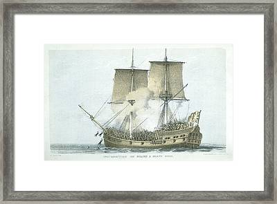 A Slave Ship Framed Print by British Library
