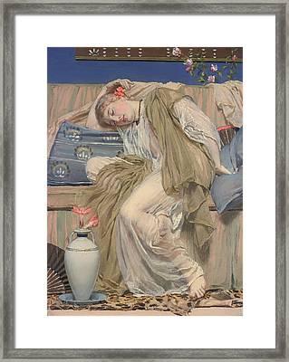 A Sleeping Girl Framed Print by Mountain Dreams