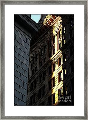 A Sliver Of Light In Manhattan Framed Print by James Aiken