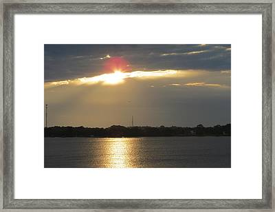 A Slot For The Sun Framed Print by Fortunate Findings Shirley Dickerson