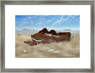 A Slow Death In Piano Valley Framed Print