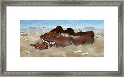 A Slow Death In Piano Valley - Panoramic Framed Print by Mike McGlothlen