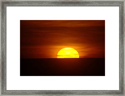 A Slow Sunset Framed Print by Jeff Swan