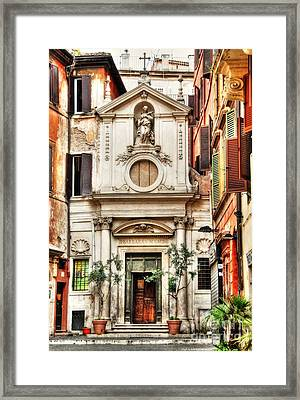 A Small Church In Rome Framed Print by Mel Steinhauer