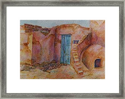 A Small Corner Of Taos Pueblo Framed Print