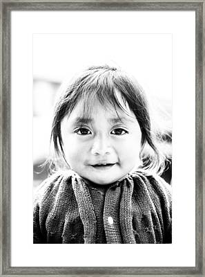 A Small Guatemalam Life - Black And White Framed Print by Shelby  Young