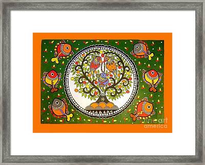 A Small Island-madhubani Painting Framed Print