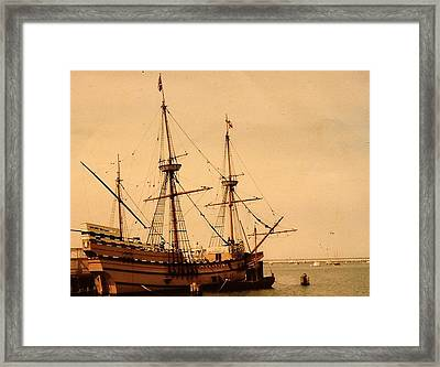 A Small Old Clipper Ship Framed Print