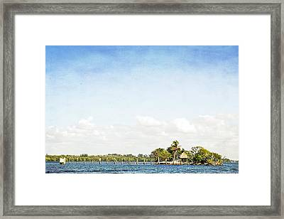 Framed Print featuring the photograph A Small Piece Of Paradise by Rosemary Aubut