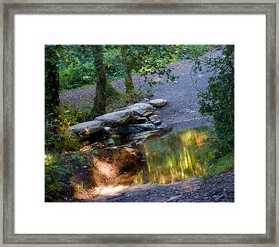 A Small River In Galicia Spain Framed Print