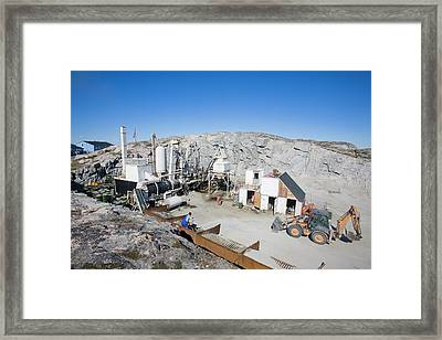 A Small Scale Quarry In (no Suggestions) Framed Print by Ashley Cooper