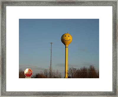 A Smile At The Crossroads. Framed Print