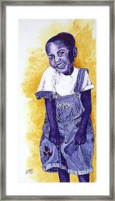 A Smile For You From Haiti Framed Print