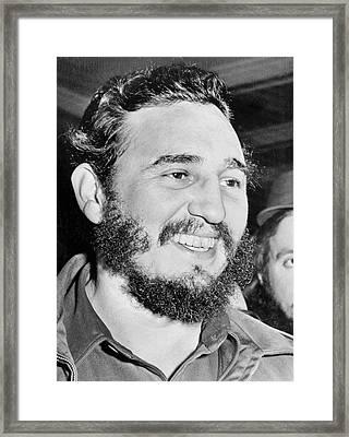 A Smiling Fidel Castro Framed Print