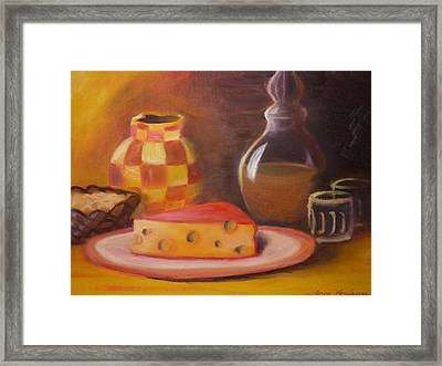 A Snack With Cheese Framed Print by Anna  Henderson