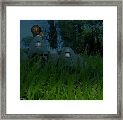 A Snail By Night Framed Print