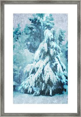 A Snow Tree Framed Print