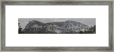 A Snowy Day In Spearfish Canyon Of South Dakota Framed Print