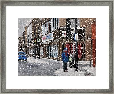 A Snowy Day On Wellington Framed Print by Reb Frost