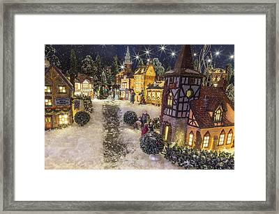 A Snowy Evening Framed Print