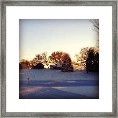 A Snowy Morning Framed Print