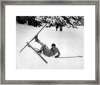A Soft Landing On Christmas Framed Print by Underwood Archives