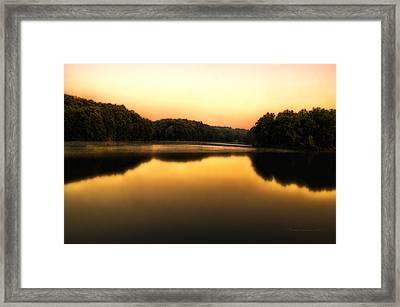 A Soft Sunrise On A Lake Framed Print
