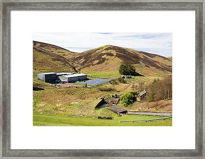 A Solar Powered Water Treatment Plant Framed Print by Ashley Cooper