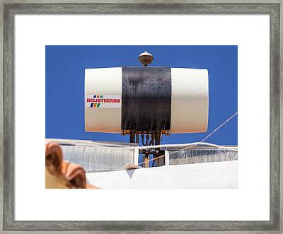 A Solar Thermal Panel Framed Print