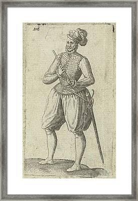 A Soldier Flutist, Abraham De Bruyn Framed Print