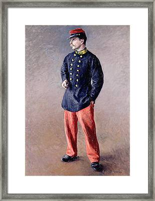 A Soldier Framed Print by Gustave Caillebotte
