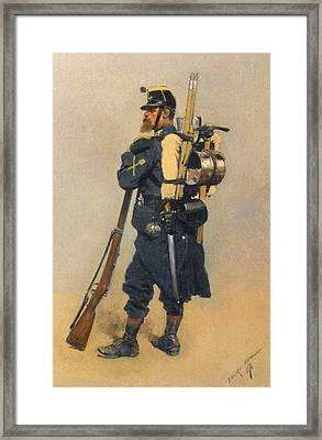 A Soldier IInfanterie Framed Print