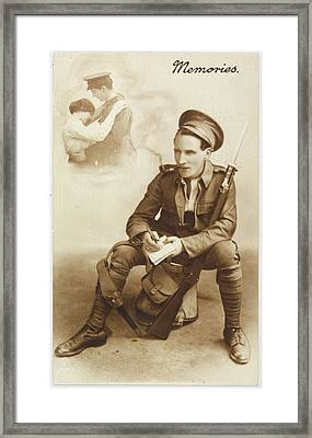 A Soldier Remembers The Last  Time Framed Print
