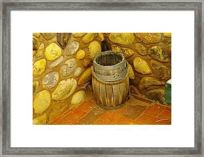 A Sole Barrel Framed Print