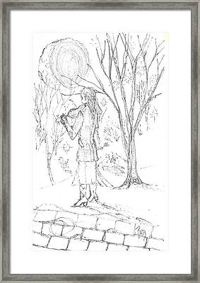 A Song For The Night - Sketch Framed Print by Robert Meszaros