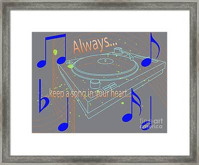 A Song In Your Heart Framed Print