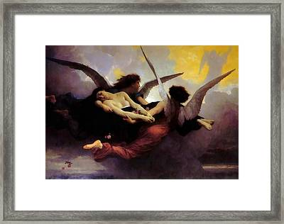 A Soul In Heaven Framed Print by William Bouguereau