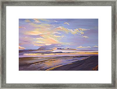 A South Facing Shore Framed Print by Donna Blossom
