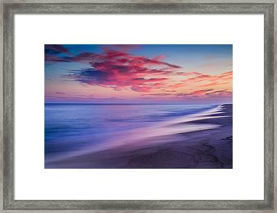 Flying Point Sunset Framed Print