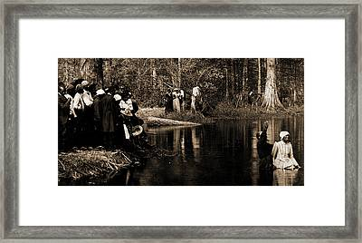 A Southern Baptism, African Americans, Spiritual Life Framed Print by Litz Collection