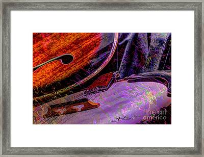 A Southern Combination Digital Banjo And Guitar Art By Steven Langston Framed Print by Steven Lebron Langston