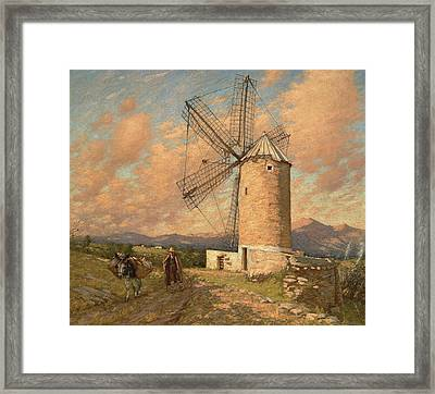 A Spanish Mill Framed Print by Henry Herbert La Thangue