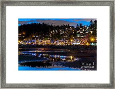 A Sparkling Night - By Sabine Edrissi Framed Print