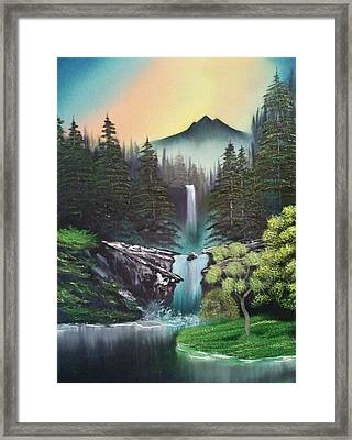 A Special Mountain Spot Framed Print by Lee Bowman
