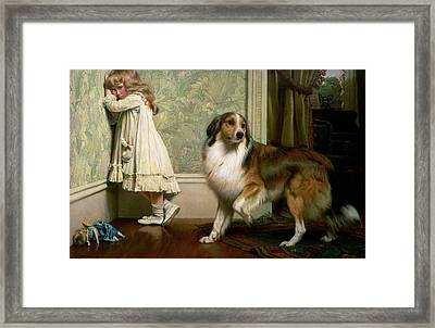 A Special Pleader Framed Print by Charles Burton Barber