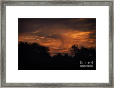 A Spectacular Sunrise Framed Print by Thomas Woolworth