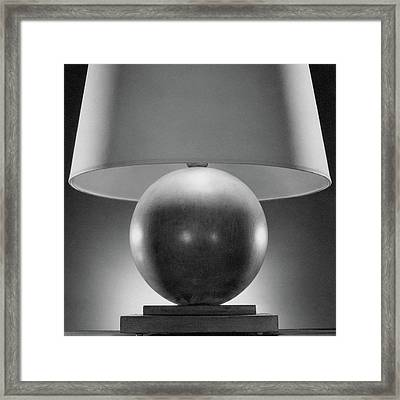 A Spherical Lamp By Joseph Mullen Framed Print by Peter Nyholm