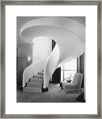 A Spiral Staircase Framed Print by  Hedrich-Blessing
