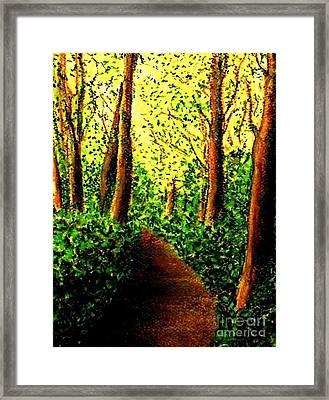 Framed Print featuring the painting A Spiritual Awakening by Hazel Holland
