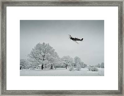 A Spitfire Winter  Framed Print by J Biggadike